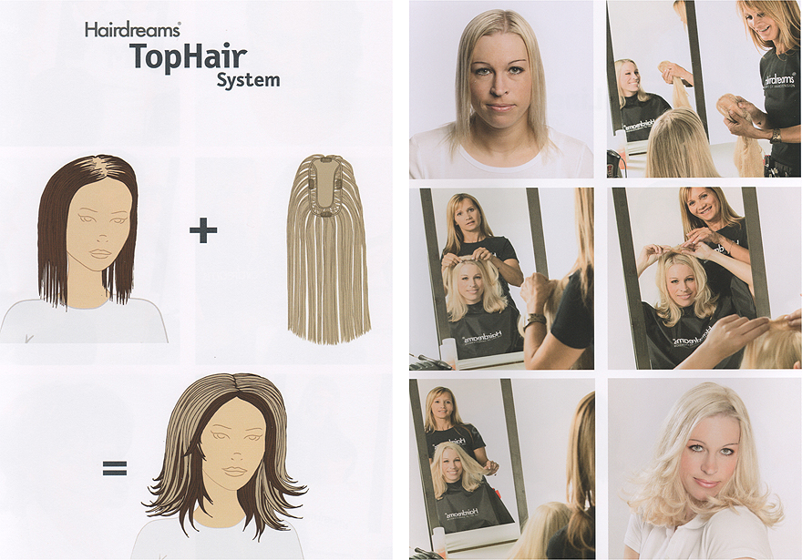 Haarverdichtung Hairdreams TopHair System