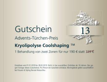 13. Dezember – Gutschein – kryolipolyse