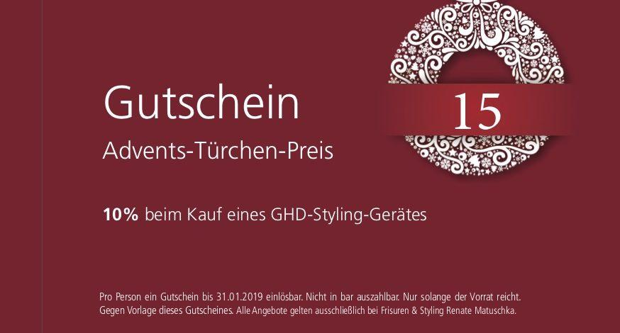 15. Dezember – Gutschein – ghd 10 %