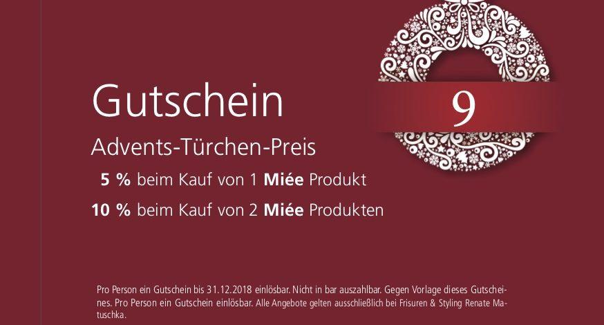 9. Dezember – Gutschein- miee