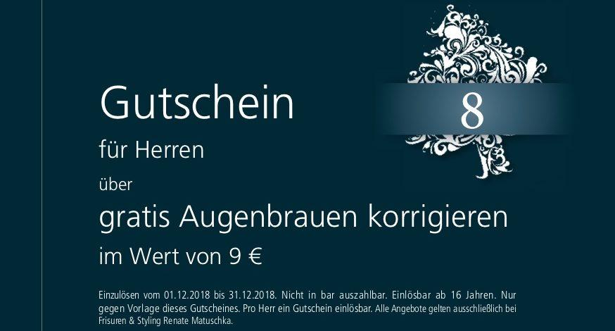 8. Dezember – Gutschein – Augenbrauen korrigieren gratis