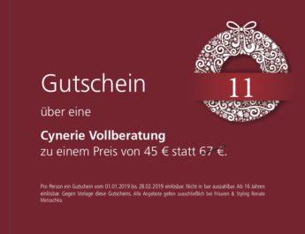 11. Dezember – Gutschein – cynerie